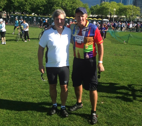 "Doug Studt & Wayne Miller at Chicago's annual ""Bike the Drive Event"""