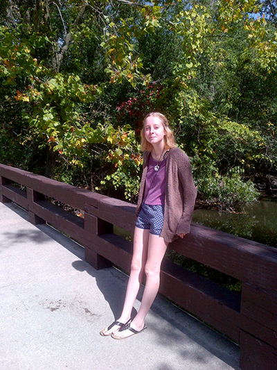 Maggie at THE Bridge.